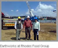 Earthworks at Rhodes Food Group (RFG) Factory in Aeroton, Johannesburg South, where a food production plant was recently built.